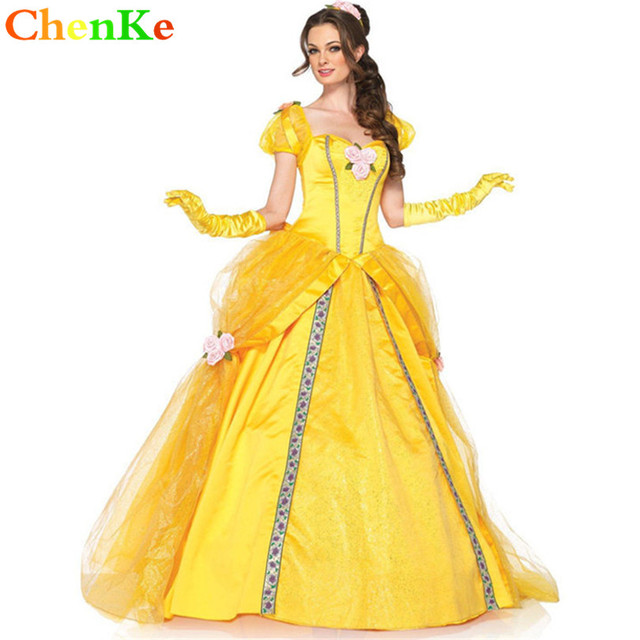 ChenKe Adult Halloween dresses Snow White Cosplay Princess Belle Costume Sexy female adult princess Masquerade game  sc 1 st  AliExpress.com & ChenKe Adult Halloween dresses Snow White Cosplay Princess Belle ...