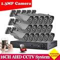 16 pcs CCTV Segurança bala Câmeras AHDNH 2500TVL kit câmera com 16 canais AHD 1080N sistema DVR hdmi 1080 P NVR 3g wifi DVR conjunto