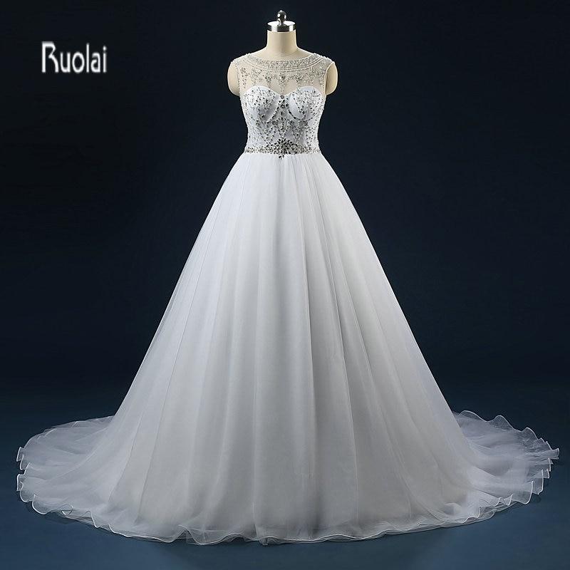 Vestido de novia de lujo 2018 Pavo pesado con cuentas de cristal árabe vestidos de boda sin respaldo vestidos de novia vestido de noiva