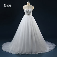 Ruolai Luxury Wedding Dress 2018 Gowns Backless Dresses