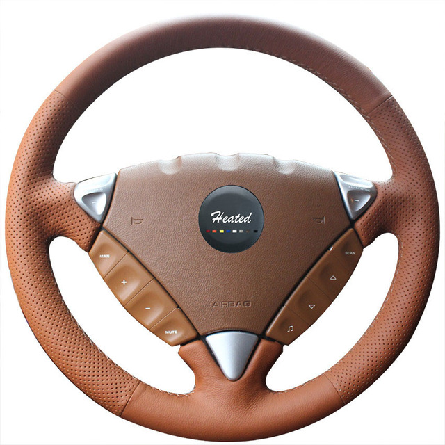 Car Covers Steering Wheel Cover For Porsche Cayenne 2007 2010 Microfiber Leather Braid On The