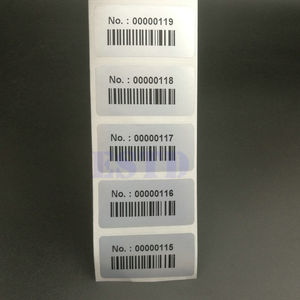 "Image 1 - 1000 Labels 1.57"" x 0.78"" 40x20mm Consecutive Number Serial Numbers with Barcode Inventory Stickers"