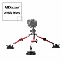 aluminium alloy flexible car suction cup mount tripod holder camera tripod for gopro for Sony all digital dslr camera camcorder