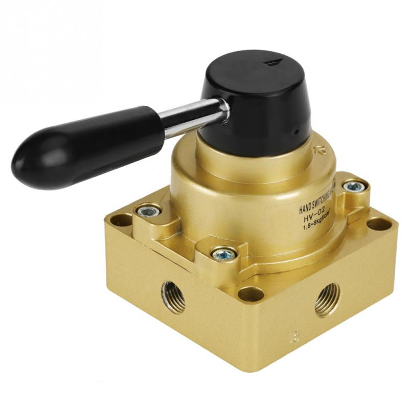 FäHig Hv-02 Pt 1/4 Zoll Port 3 Positionen 4 Möglichkeiten Air Pneumatische Handhebel Ventil 1,5-8kgf/ Cbm HeißEr Verkauf 50-70% Rabatt Ventil Sanitär