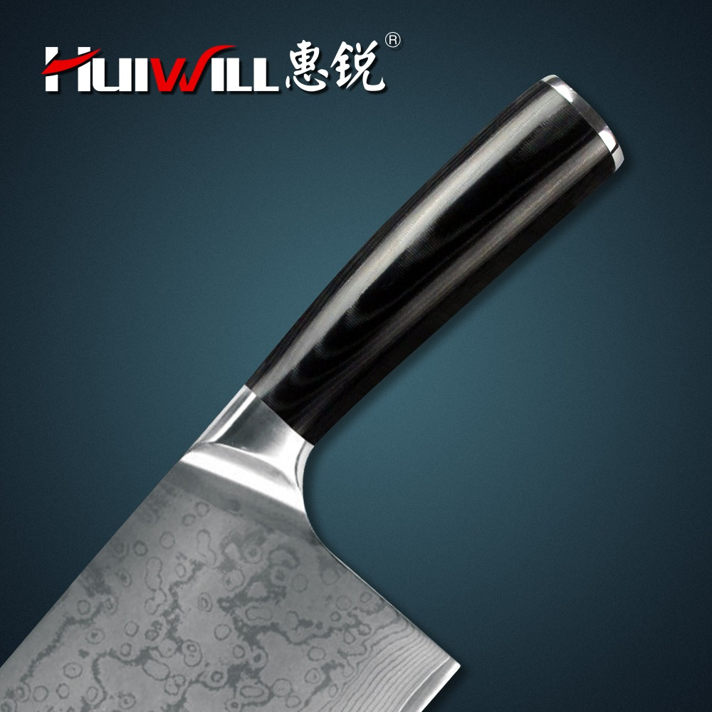 Uncategorized Luxury Kitchen Knives damascus kitchen knife picture more detailed about huiwill brand luxury knives japanese vg10 carbon steel chef cleaverchopper knife