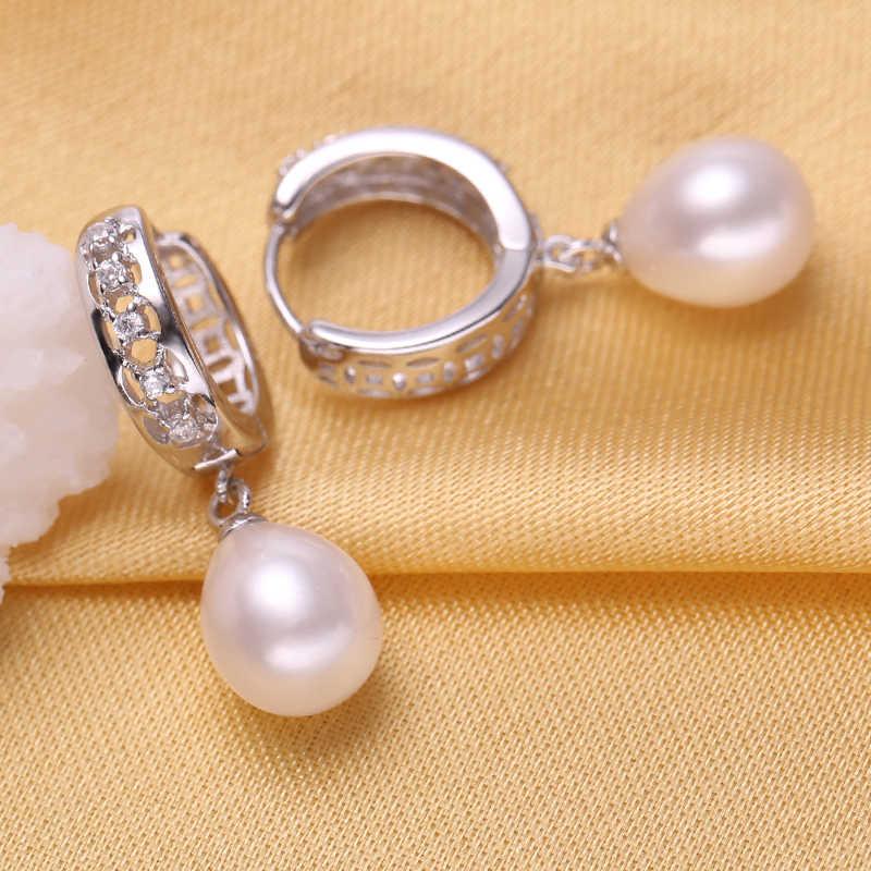 FENASY fashion Jewelry Sets silver Earrings For Women,925 sterling silver fashion earrings, freshwater pearl jewelry 2018 new