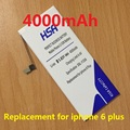 4000mAh Mobile Phone Battery Replacement For Apple iPhone 6 plus 5.5''