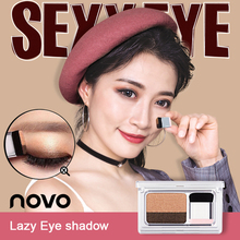 NOVO New Lazy Eyeshadow Korean Style Nude Palette Matte Shimmer Eye Shadow Stamp