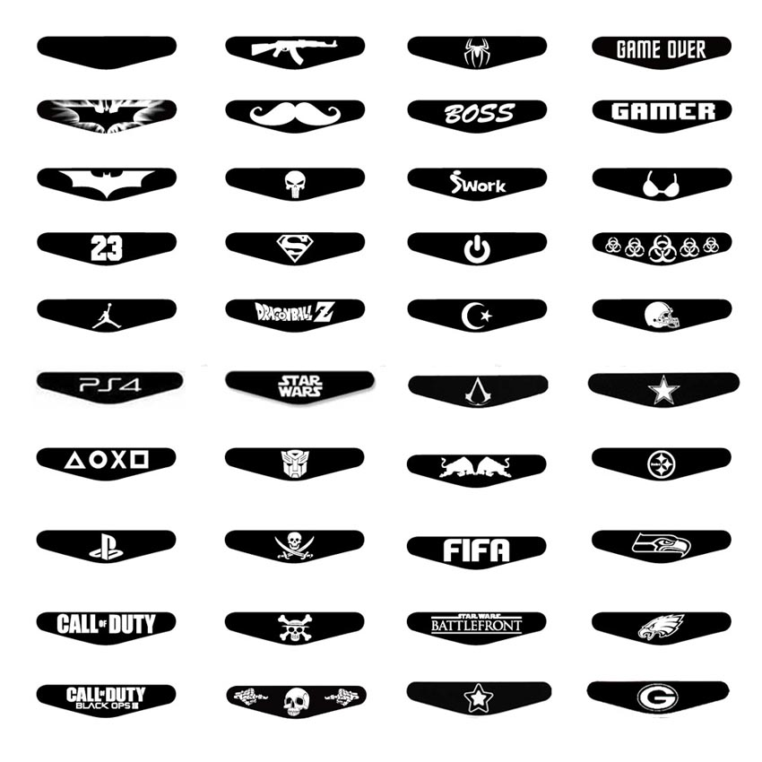 AOXO 40 Pcs Game Light Bar Vinyl Stickers Decal Led Light Protection Skin For Sony Playstation 4 Dualshock 4 PS4 Controller(China)