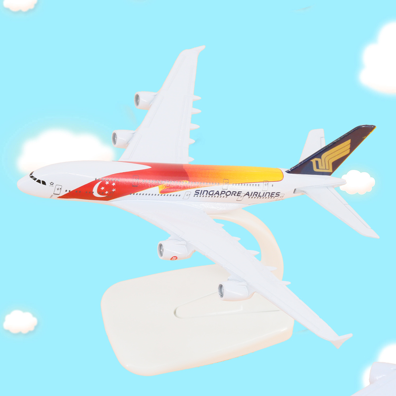 16cm Alloy Metal Air A380 Singapore Singapore Painted Airplane Model W Stand Aircraft Gi ...