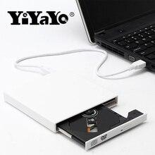 YiYaYo Внешний оптический привод DVD Встроенная память CD RW USB 2,0 CD/DVD плеер Combo Reader написать portátil для ноутбука компьютер Windows7/8