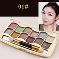 12 Color Professional Colorful Eyeshadow Shimmer Palette With Makeup Brush #1