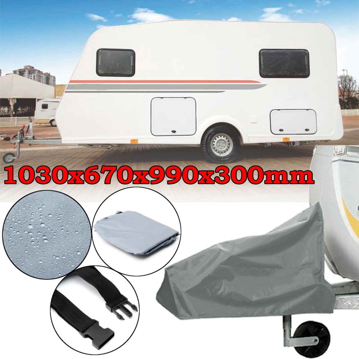Nylon Universal Caravan Hitch Cover Waterproof Dustproof Trailer Tow Ball Coupling Lock Cover For RV