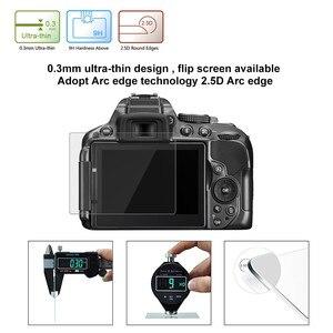 Image 4 - Szkło ochronne na Nikon D5300 D5500 D5600 ochronne szkło hartowane na ekran odporna na zarysowania folia o wysokiej rozdzielczości Clear Glas 9H