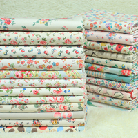 1 Meter Export 100 Cotton Canvas CK Fabric With Rural Floral Print Handmade Pillow Sofa Curtain