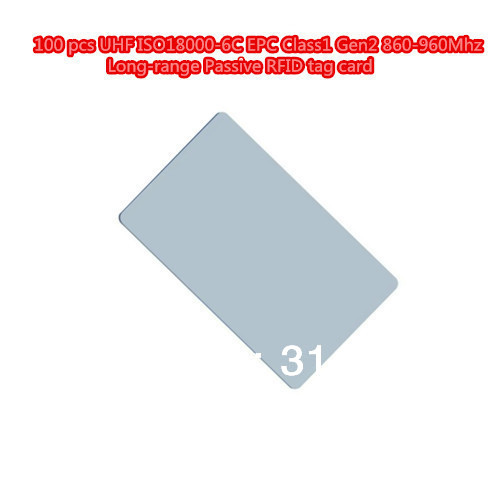 100 pcs UHF ISO18000-6C EPC Class1 Gen2 860-960Mhz Long-range Passive RFID tag card 1000pcs long range rfid plastic seal tag alien h3 used for waste bin management and gas jar management