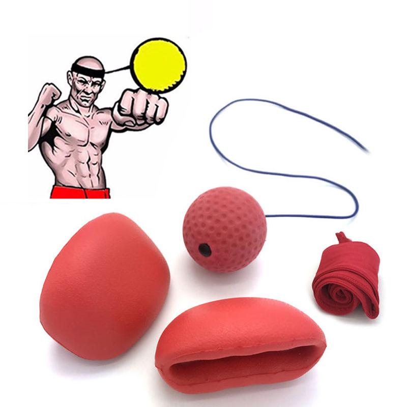 Forfar Gym sports Boxing Fight Ball With Head Band For Reflex Speed Boxer Training Boxing Punch Exercise Gym fitness Speed Ball suotf adult fitness boxing pear sports punching bag martial arts supplies boxing speed ball punching bag excercise equipment