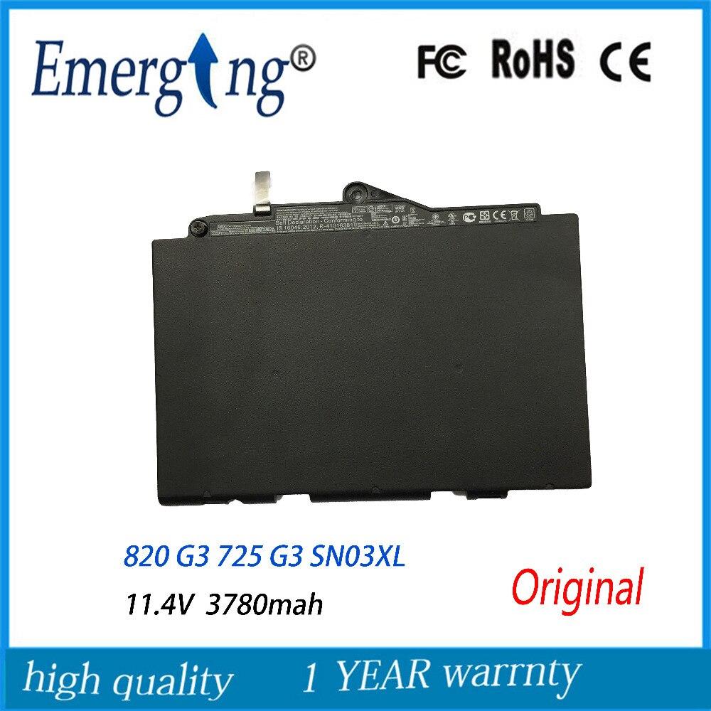 44WH New Original Laptop Battery For HP EliteBook 820 G3 725 G3 SN03XL ST03XL 800514-001N HSTNN-UB6T