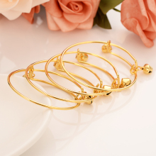 12pcs Gold bell Bangle for Women Dubai india Bride Wedding kid girl Africa Bangle Arab Jewelry Charm Bracelet Christmas gifts jhplated one piece womens wedding bridal bangle bracelet dubai bangle jewelry africa arab gold color