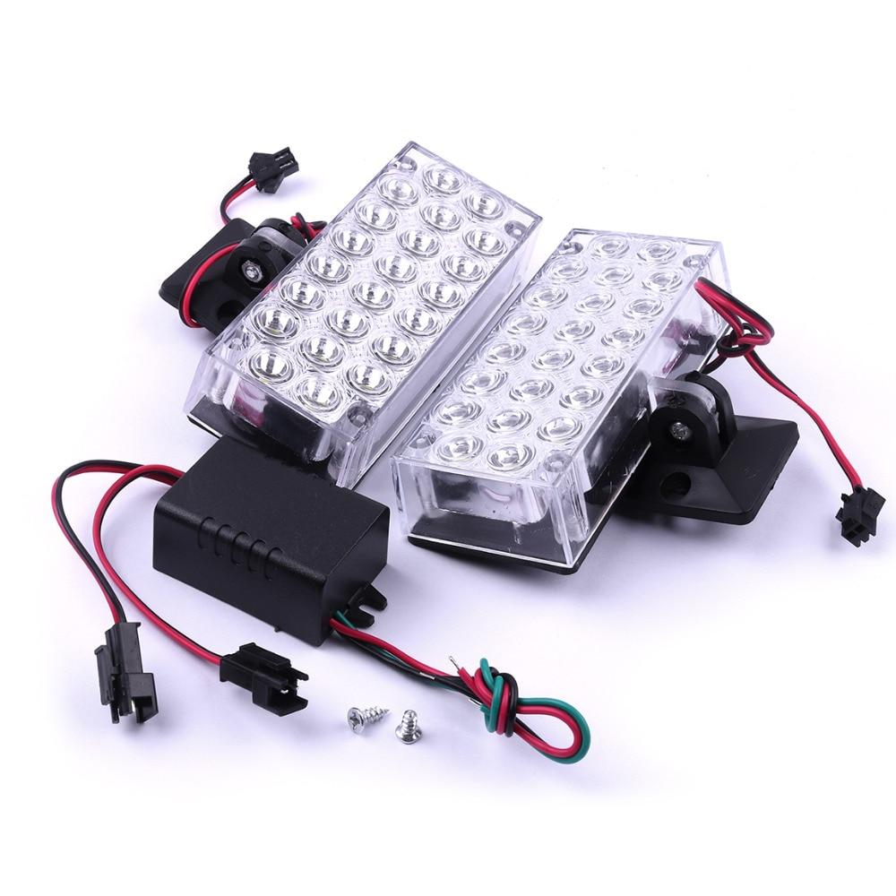 2шт 12V 5W и автомобиля 22 светодиодов Строб вспышка света даш аварийного мигающий Противотуманные фары белый/синий/красный/желтый свет автомобиля 9.5x4x2.2см