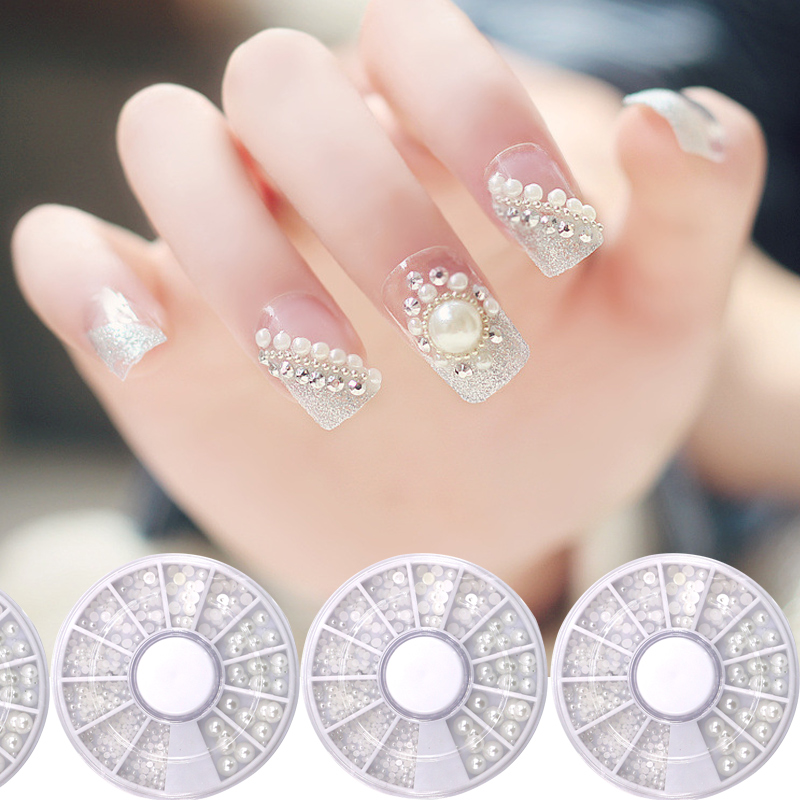 8cm Japanese Manicure Diy Jewelry Pearl Soft Clay Nail Patch Nails Art & Tools