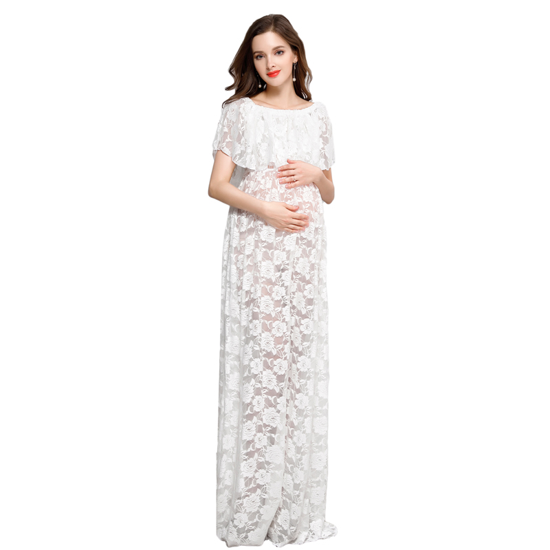 Maternity Photography Props Women Skirt Lace Pregnancy Clothes Maternity Dresses For pregnant Photo Shoot Clothing RQ091
