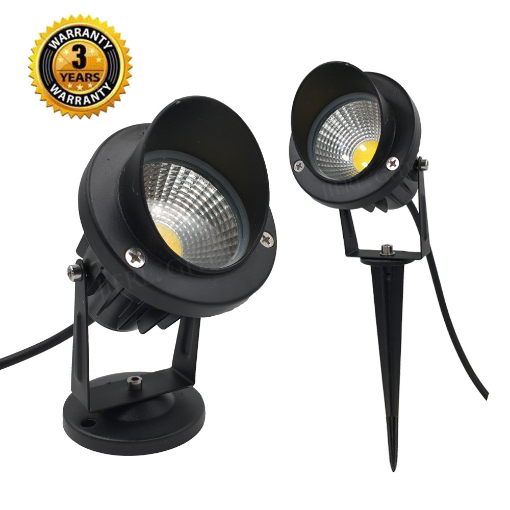 Really 9W Outdoor Garden Light LED Lawn lamp Waterproof LED Flood Spot Light Warm Cool White with insert needle pin AC85-265V