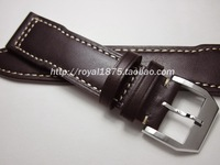 Men Calf Leather Watch Strap 20mm 21mm 22mm Genuine Leather Watch Band With Silver Pin Buckle