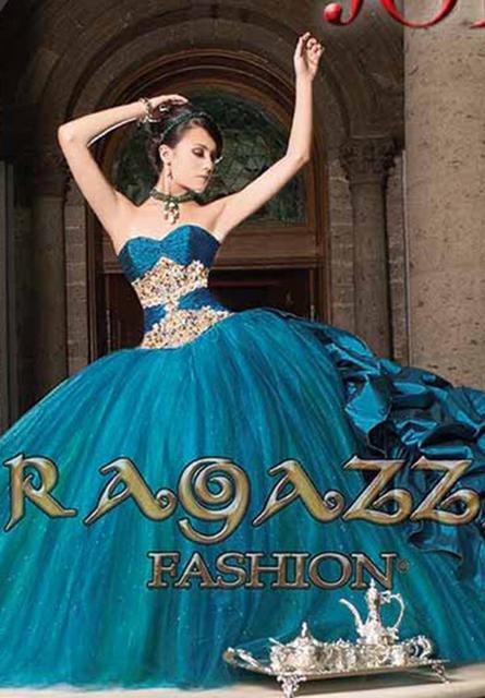5b721968620 Dark Green Strapless Ball Gown Ragazza Quinceanera Dresses A82 282 Ruffles  Colorful Taffeta Tulle Crystal Floor Length Prom Gown