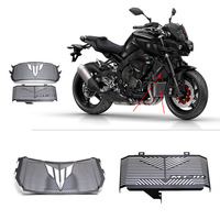 High Quality Motorcycle Accessories Black Radiator Guard Protector Grille Grill Cover For YAMAHA MT10 MT 10