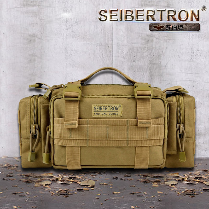 Seibertron Tactical Utility Response Shoulder Hand Bag Multipurpo se Waist Bag waterproof bag color brown and black