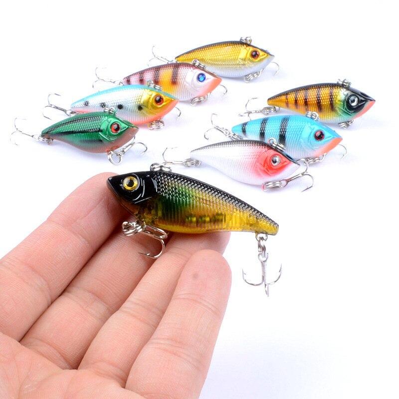 1Pcs Fishing Sinking VIB Lure 5cm/6g Vibration Vib Crankbaits Artificial Hard Rattle Baits With 8# Hooks Wobblers For