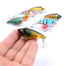 1Pcs Fishing Sinking VIB Lure 5cm/6g Vibration Vib Crankbaits Artificial Hard Rattle Baits With 8# Hooks Wobblers For