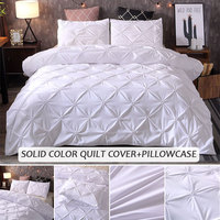 Bedding Sets Duvet Cover 3pcs Red Home Hotel Pillow Case Bed Sheet Gift Luxury New