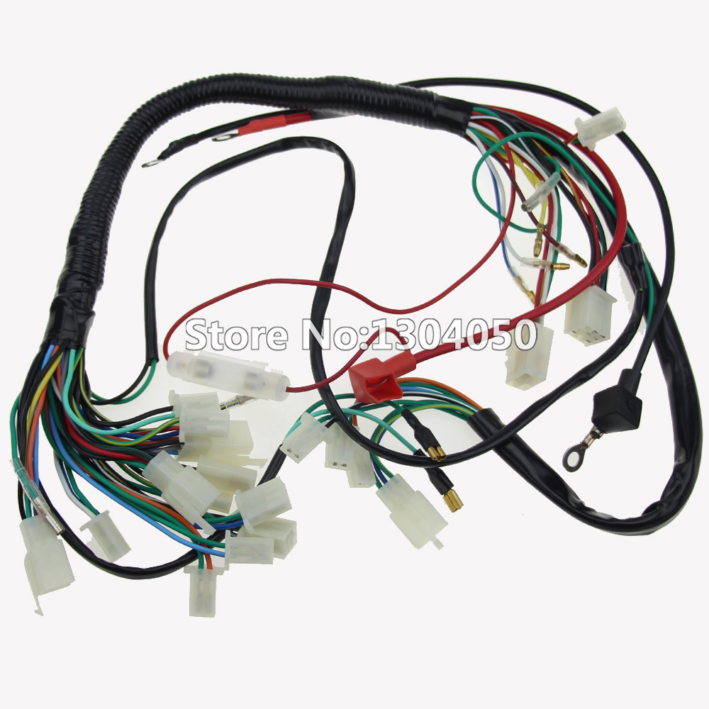 QUAD WIRING HARNESS 70cc-110cc Chinese Electric start 50cc 90cc loom 125cc  ATV Pit Bike