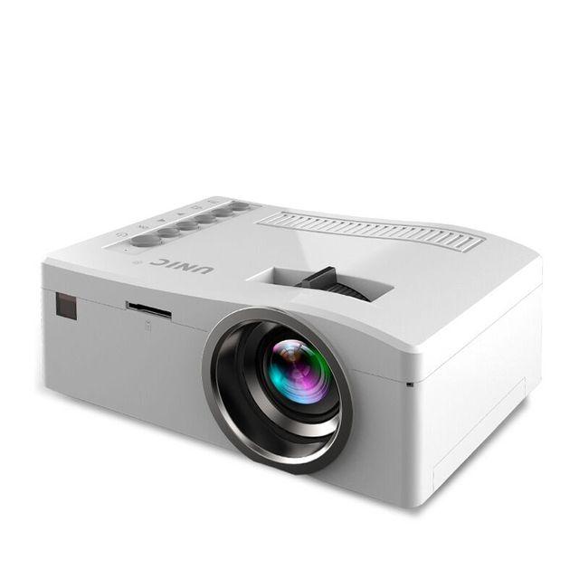 UNIC UC18 Full HD 1080 P Портативный Мини-Проектор Видео Цифровой СВЕТОДИОДНЫЙ Проектор мультимедийный Проигрыватель Входы AV VGA USB HDMI