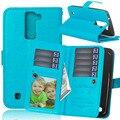 """Para lg k8 caso carteira 5.0 """"virar magnetic carteira de couro tampa do suporte para lg k8 4g lte k350n com 9 slots de cartão de bolso titular bolsa"""