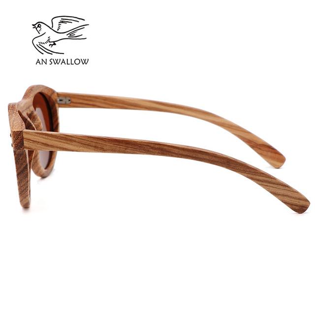 Zebra wooden retro style sunglasses men and women