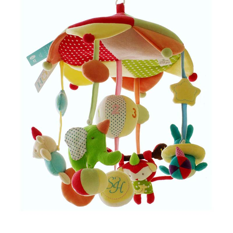 SHILOH 2018 High Quality Crib toy Cosleeper Musical Mobile Baby Crib Rotating Music Box Plush Doll 60 Songs Circus Monkey shiloh 60 songs musical mobile baby crib rotating music box baby toys new multifunctional baby rattle toy baby mobile bed bell