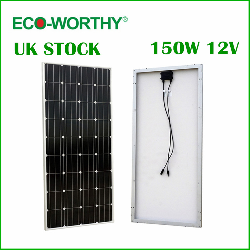 цена на UK Stock No Tax No Duty 150W 12V RV Mono Monocrystalline Silicon Solar Panel Solar Module for RV Boat Home Battery Charger