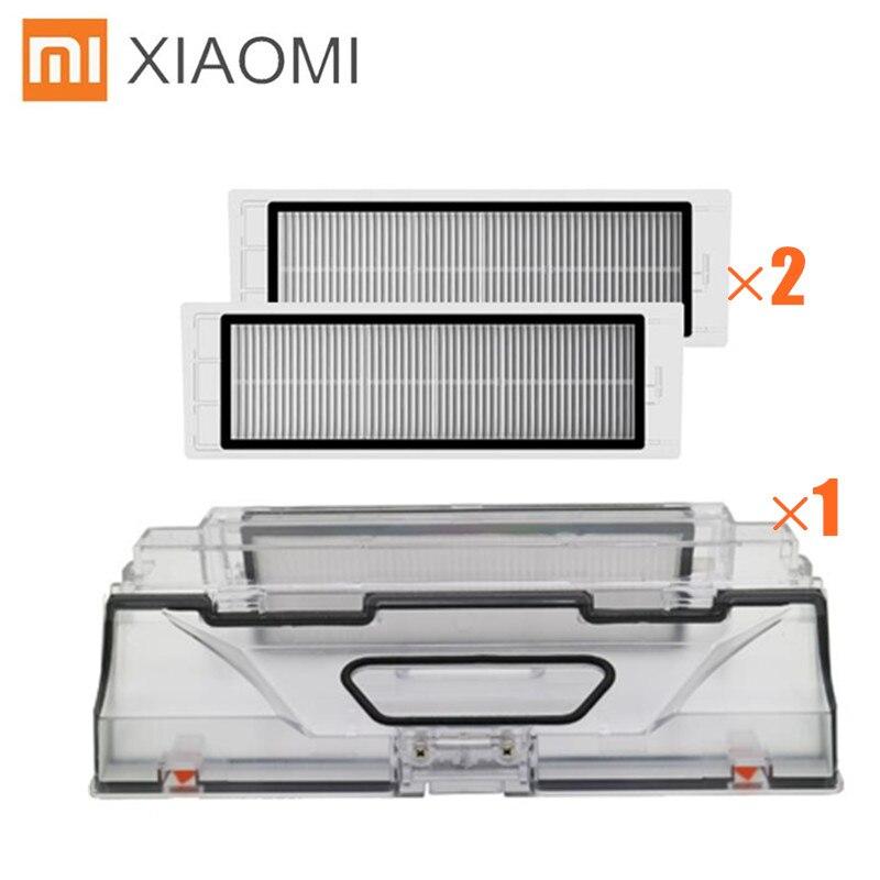 XIAOMI MI Robot Vacuum Cleaner Parts Dust Bin Box With HEPA Filter Replacements For Xiaomi Robotic Sweeper Mi Robot