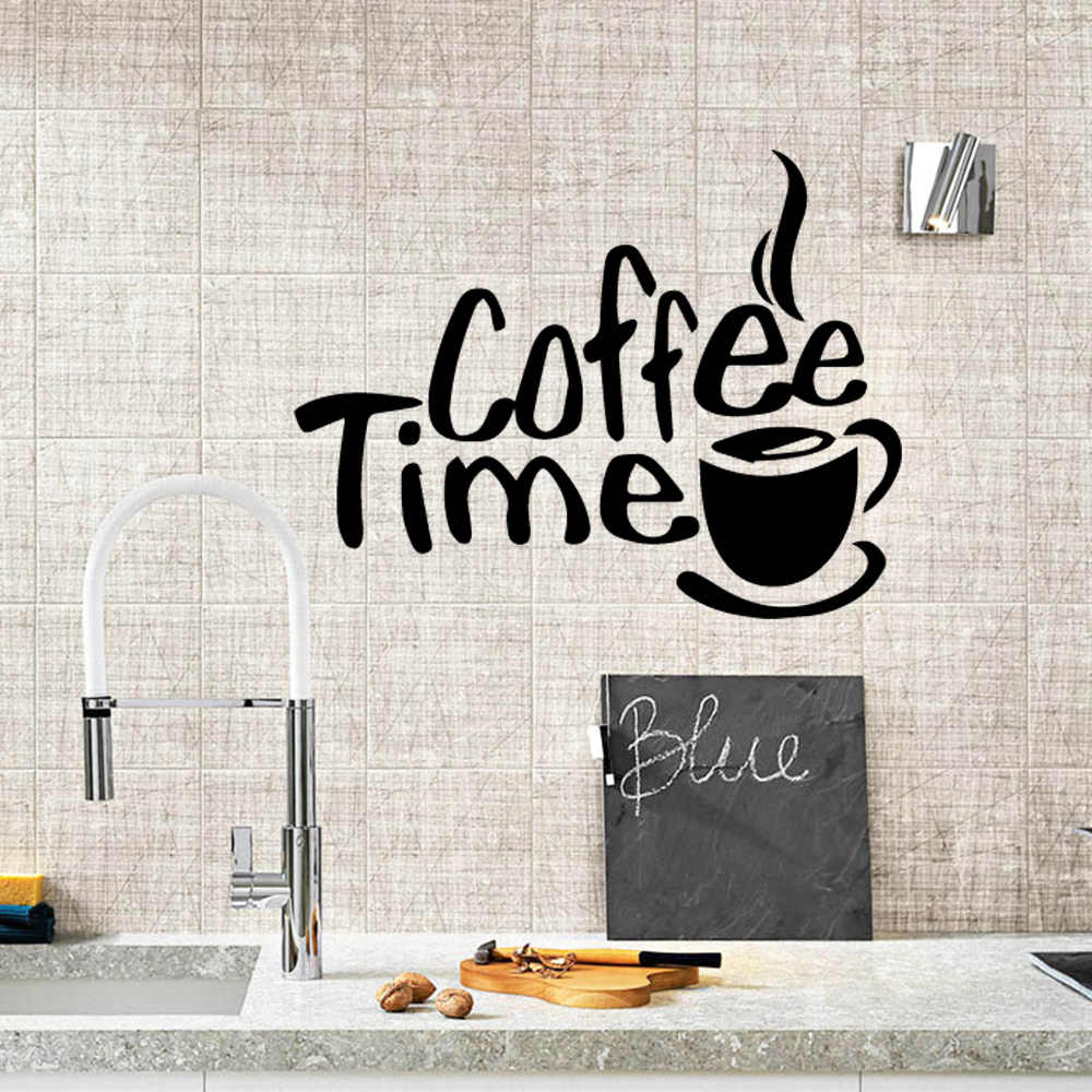 Kustom Dapur Stiker Dinding untuk Restoran Dekorasi Pizza Kopi Dekorasi Rumah Vinyl Tahan Air Dinding Seni Mural Stiker