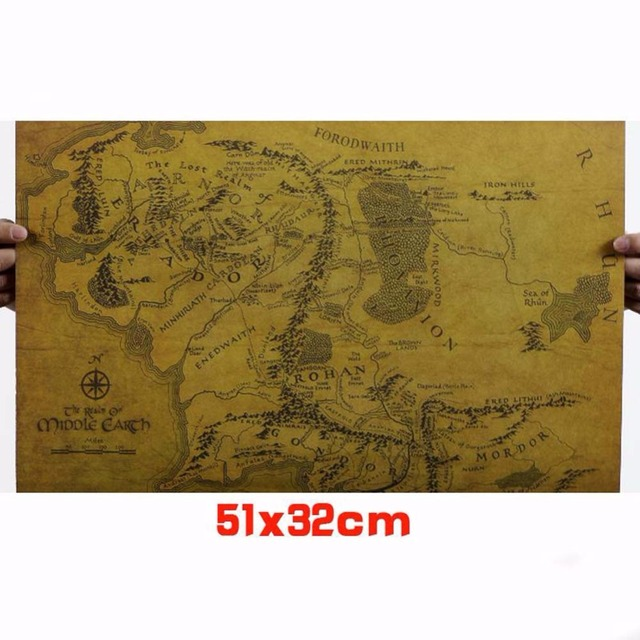 1 pc of kraft paper the lord of the rings middle