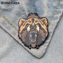 596b3bd1a Homegaga Tiger Bear Brooches for men women Pride Zinc Enamel Pins medal  Cute insignia For shirt
