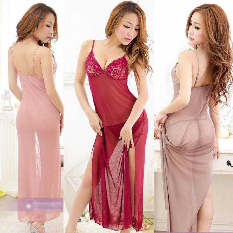 Women's sexy lingerie dress Sleepwear Underwear Night fire Dress+G-string sexy costumes