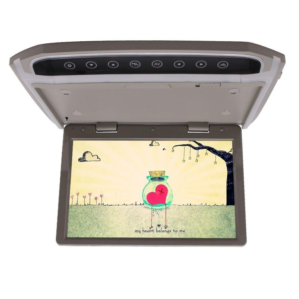 Car Roof-mount Monitor 10.2-inch LCD-TFT Overhead High Resolution 2 Way Video Input Built-in FM Transmitter SD/HDMI Input
