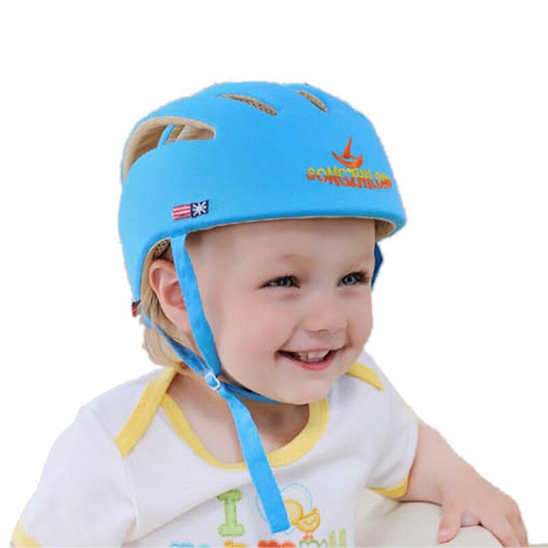 Image 5 - Seguridad del bebé aprender gorro de paseo Anti colisión sombreros para niño o niña suave cómodo casco cabeza de Seguridad Protección ajustable-in Sombreros y gorras from Madre y niños on AliExpress