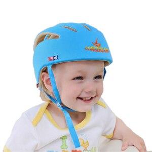 Image 5 - 아기 안전 학습 도보 모자 anti collision 보호 모자 소년 소녀 부드러운 편안한 헬멧 머리 보안 보호 조절 가능