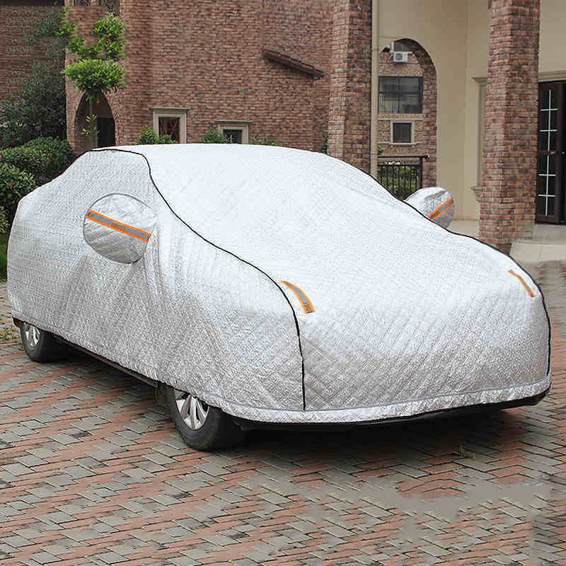 YIKA Winter Plus Super Full Car Cover With Lock Anti Thief Waterproof thicken Case Sun Shade Snow Protection Protect Car image