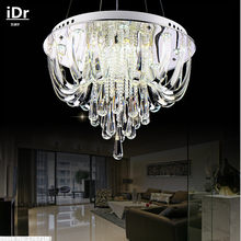 Creative crystal lamp Bedroom lamp Hall crystal chandelier modern crystal lights living room disc Upscale atmosphere(China)